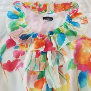 Multi-color sleevless top